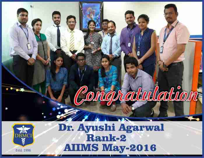 Ayushi Agarwal with Group DBMCI